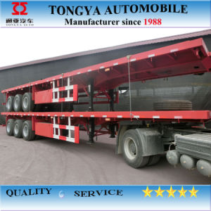40ft Container Flatbed Semi-Trailer pictures & photos