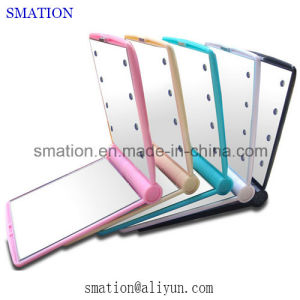 Battery Folded LED Backlit Light Illuminated Cosmetic Makeup Vanity Mirror pictures & photos