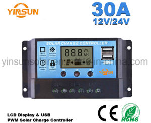 12V/24V 20A Solar Controller with LCD Display pictures & photos