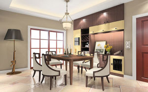 Fashion Wooden Dining Room Set (zp-003) pictures & photos