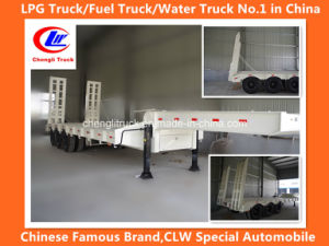 Heavy Duty 3-Axle 40ton Lowbed Truck Trailer pictures & photos