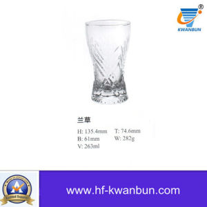 Machine Press-Blow Glass Cup Wigh High Quality Kb-Hn01052 pictures & photos