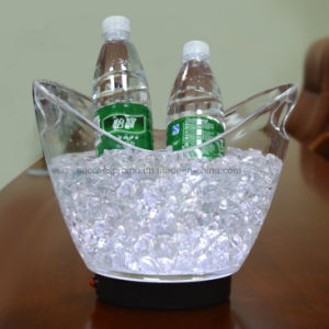 Popular Transparent 8L V Shape Illuminated Wine Ice Bucket pictures & photos