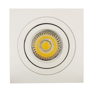 Lathe Aluminum GU10 MR16 Square Recessed Tilt Spotlight (LT2303B) pictures & photos