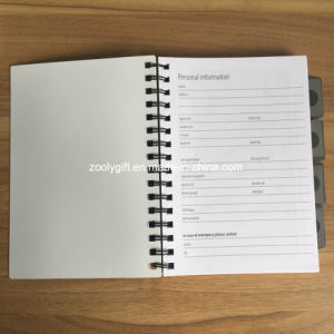 Stripes Printing A5 PP Spiral Notebook Personal 4 -in -1 Project Notebook pictures & photos