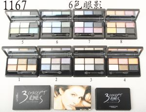 Washami Cosmetic Matte Makeup Eyeshadow Palette Shimmer Set 6 Color+ Brush Set pictures & photos