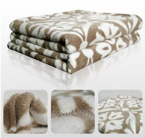 Printed Coral Fleece Blanket