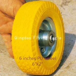 "6""X2"" Flat Free PU Foam Wheel pictures & photos"