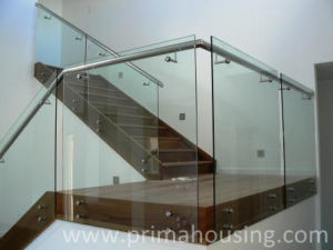 Tempered Glass Balustrade/ Tempered Glass Railing (PR-1013) pictures & photos