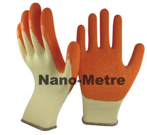 Nmsafety Orange Latex Coated Labor Hand Work Glove pictures & photos