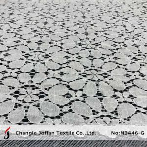 Flower Cotton Dress Lace Fabric (M3446-G) pictures & photos