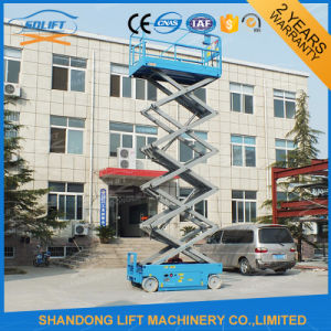 12m Lift Height Hydraulic Mobile Electric Boom Lift with Ce pictures & photos