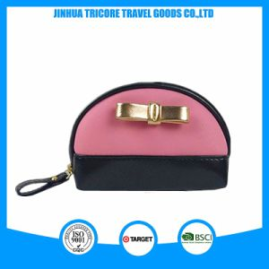 Embossed PVC Leather Mixed Color Victoria′s Secret Style Cosmetic Bag pictures & photos