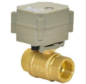 "3/4""Miniature 2 Way Motorized Control Brass Ball Valve (T20-B2-C) pictures & photos"