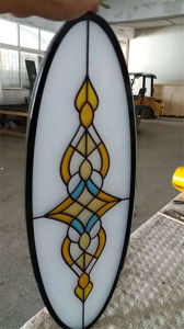 3+3mm Customized Tempered Stained Glass for Buildings pictures & photos