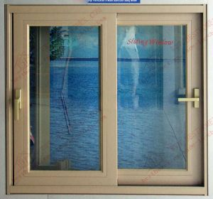 High Quality Woodgrain Aluminum Sliding Window (BHA-SW32) pictures & photos