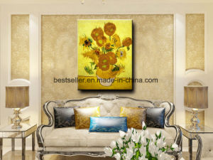 100%Hand-Painted Oil Painting of Sunflowers pictures & photos