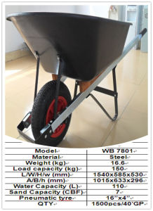 Hand Truck or Wheel Barrow (WB7808-1) pictures & photos