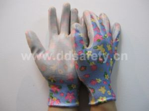 Nylon Nitrile Coated Garden Glove Safety Glove Dnn355 pictures & photos