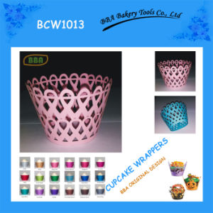 BBA Heart to Heart Shaped Cupcake Wrapper (BCW1013)