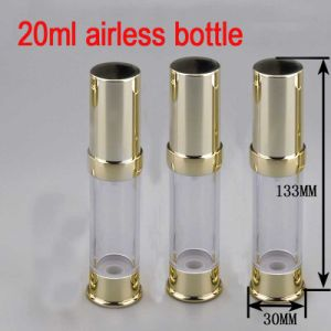 20ml Gold Airless Alu/Plastic Pump Cosmetic Packaging Bottle pictures & photos