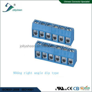 PCB Screw Terminal Blocks Pitch 5.0mm 9p 180deg Type with Blue Housing pictures & photos