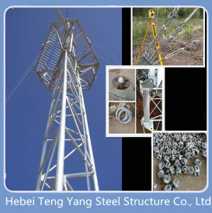 Galvanized Steel Lattice Telecom Guy Wire Tower pictures & photos