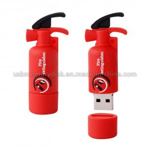 Custom Fire Extinguisher Shaped USB 2.0 Thumb Driver (CT-016)