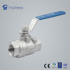 2PC Stainless Steel Ball Valve with Bsp Thread pictures & photos
