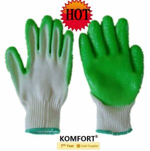 Heavy Duty Industrial Winter Cotton Lining Work Latex Glove (JMC-424A) pictures & photos