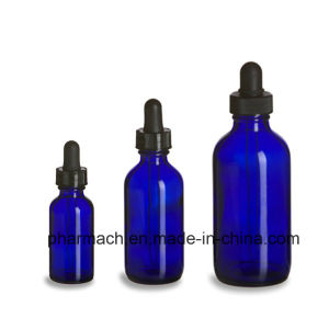 30ml Eco Cobalt Blue Glass Dropper Boston Bottle 10z 20z pictures & photos
