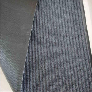 Grey Double Ribbed PVC Door Mat pictures & photos
