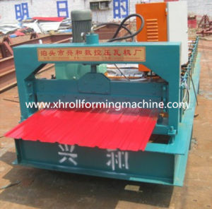Colored Steel Roof Panel Roll Forming Machine pictures & photos