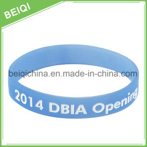 Promotional Gifts Logo Colorfilled Custom Cheap Silicon Wrist Band pictures & photos