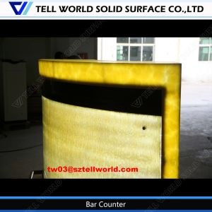 Restaurant Acrylic Lighted Bar Counter Furnitues Commercial Bar Sale pictures & photos