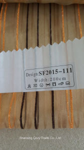 New Fashion Project Stripe Organza Sheer Curtain Fabric 2015111 pictures & photos