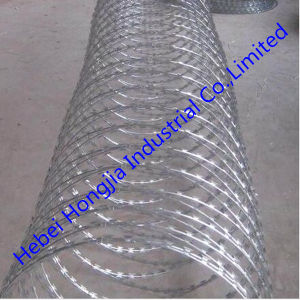 Hot-Dipped Galvanized ISO 9002 Good Quality Razor Wire Cbt-65
