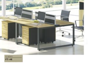Modern Workplace Office Workstation for Four People pictures & photos