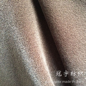 Short Pile Cation Velour Fabric with Backing for Home Textile pictures & photos
