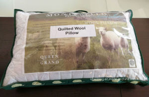 Box Pillow 100% Cotton Fabric Quilted Wool Pillow