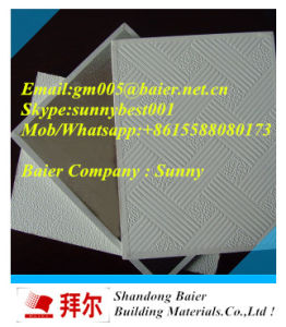 PVC Laminated Gypsum Ceiling Tile/Interior Ceiling Decoration/ pictures & photos