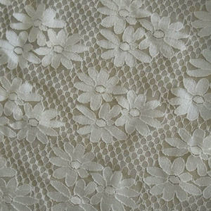 100%Nylon Flower Pattern Lace Fabric (with oeko-tex standard 100 certification) pictures & photos