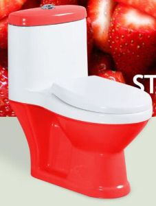 Red Colorful One Piece Wc Toilet for Kids pictures & photos
