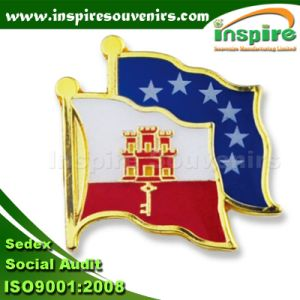 Customized Gold Plated Epoxy Flag Metal Pin Badge (B 620) pictures & photos