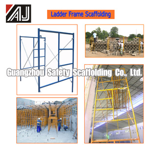 Q235 Steel Ladder Frame Scaffolding (LF1700) , Guangzhou Manufacturer pictures & photos