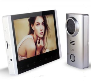 Home Security 7 Inches Wireless Intercom Video Door Phone with Memory pictures & photos