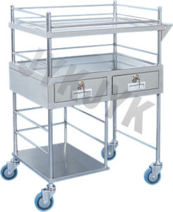 Medical Trolley for Infusion Bottles with Three Shelves pictures & photos