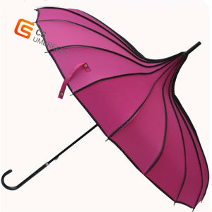 16k Red Special Shape Straight Umbrella (YS-1001A) pictures & photos