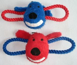 Pet Dog Product Plush Rope Squeaky Chew Pet Toy pictures & photos