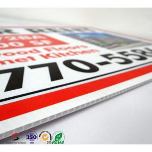 Customized PP Corflute for Sign Board PP Advertising Corrugated Plastic Board pictures & photos